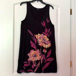 Express black sleeveless sequined dress